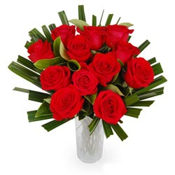 Bouquet of Roses One Dozen Red