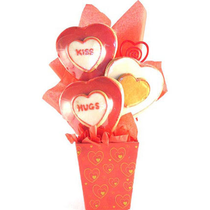 Dangling Hearts Gift Basket