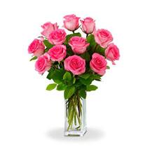 Dozen Pink Roses: All Flowers