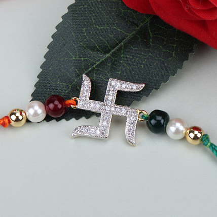 Swastik Beauty American Diamond Rakhi BAN