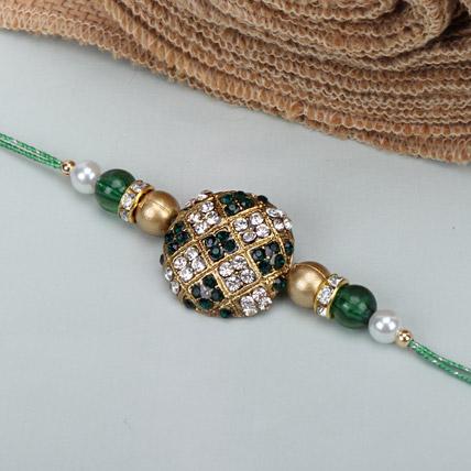 Green Stone Rakhi BUL
