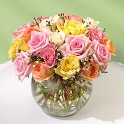 Beautiful Bowl of Roses