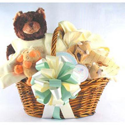 Natural Baby Gift Basket