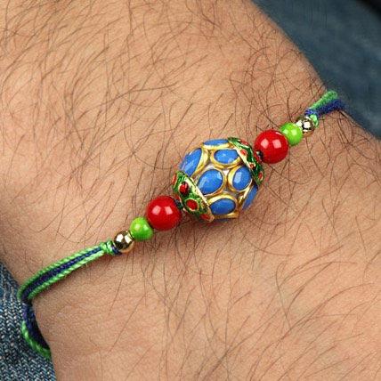 Precious Blue Stone Rakhi CHI
