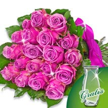 Bunch of 20 purple roses: Friendship Day Gifts to Germany