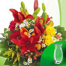 Flower Bouquet Symphonie with vase: All Flowers