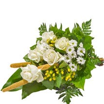 Sympathy Bouquet in White: Birthday Gifts Dusseldorf