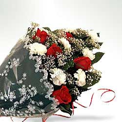 Bunch of Carnations n Roses INDO