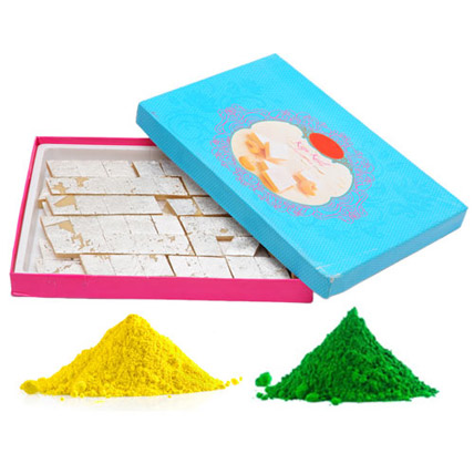 1 Kg Kaju Katli with Colours