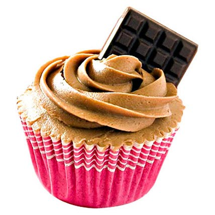12 Chocolate Cupcakes With Chocolate Bar by FNP