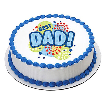 1kg Fathers Day Butterscotch Photo Cake by FNP