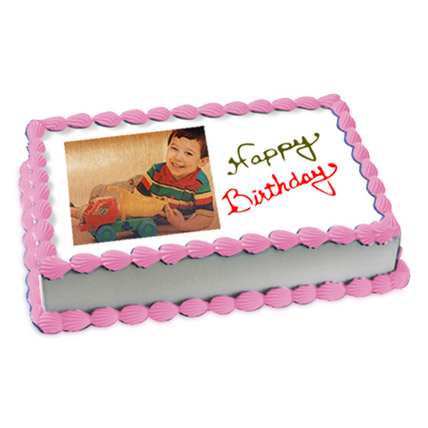 1kg Photo Cake Butterscotch Eggless by FNP