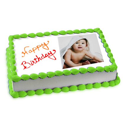 2kg Photo Cake Pineapple Eggless