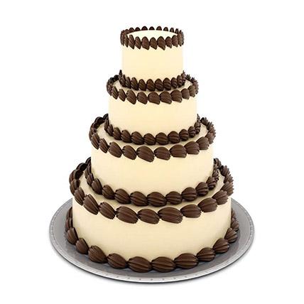 4 Tier Creame Cake