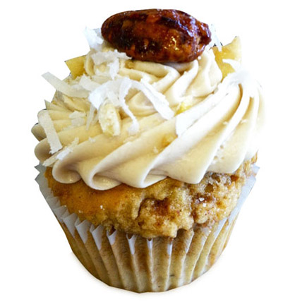 6 Banana and Pecan Cupcakes by FNP