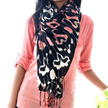 Abstract Print Stole