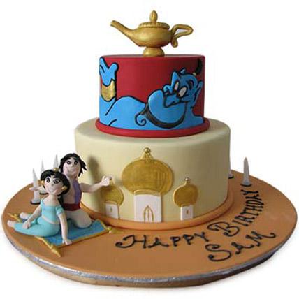 Adorable Aladdin Jasmine Cake 3kg Eggless