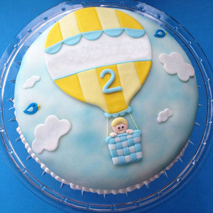 Baby In Balloon Cake