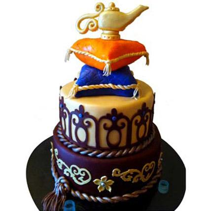 Beautiful Magic Lamp Layered Cake 3kg Eggless
