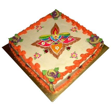 Beautiful Rangoli Cake 3kg