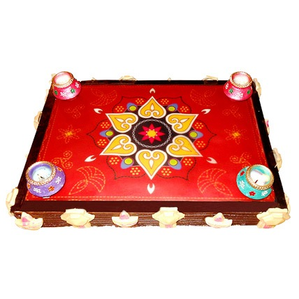 Beautiful Rangoli Chocolate Cake 2kg