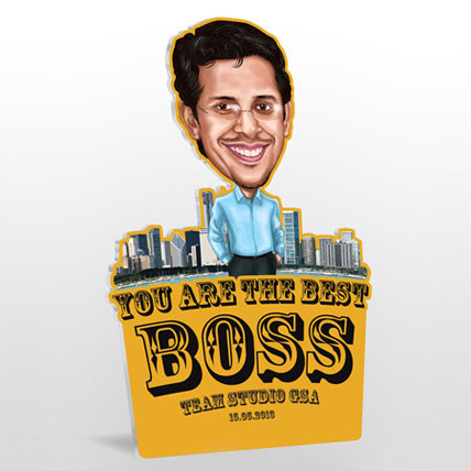 Best Boss Caricature 2D Minime Caricature