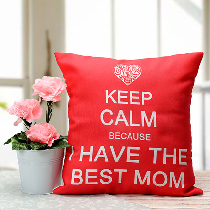 Best Mom Cushion and Plant