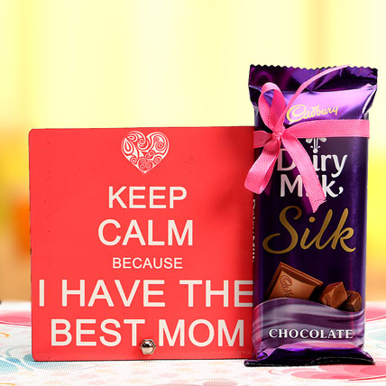Best Mom Plaque and Chocolate