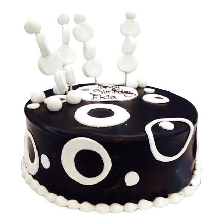 Black and White Cake Half kg Eggless