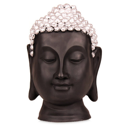 Black Thai Buddha Head