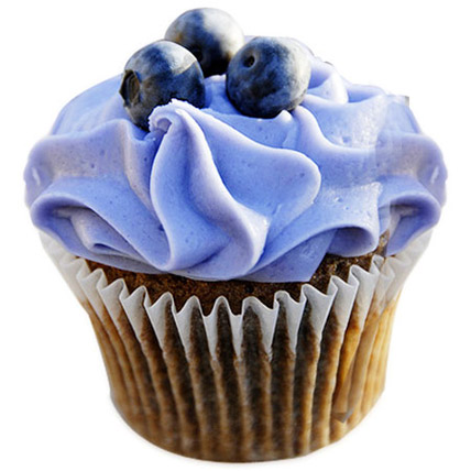 Blue Berry Cupcakes 24 Eggless