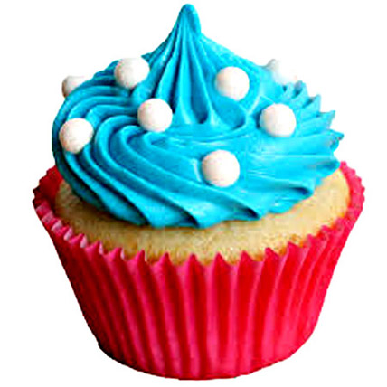 Blue Coffee Cupcakes 6