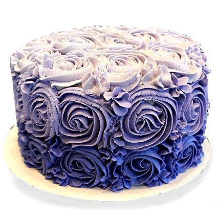 Blue Rose Cake 2kg Vanilla