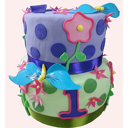 Butterfly And Flower Cake 4kg
