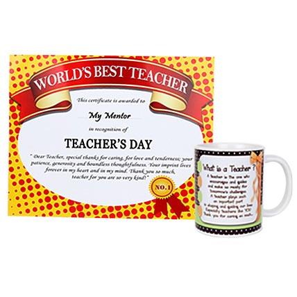 Certificate and Mug For Teacher