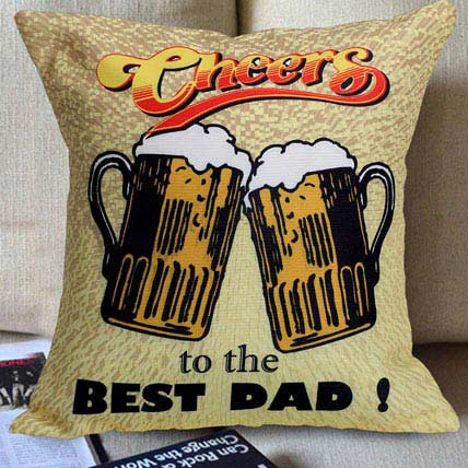 Cheers to the Best Dad Cushion