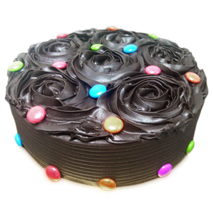 Chocolate Flower Cake 2kg Eggless