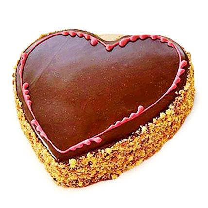 Chocolaty Heart Cake 1kg Eggless
