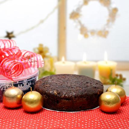 Christmas Cake and Candles