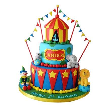 Circus Cake 5kg Eggless