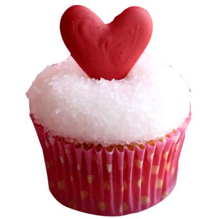 Classic Valentine Heart Cupcakes 12 Eggless