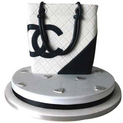 Classy Chanel Bag Cake 4kg Eggless Chocolate