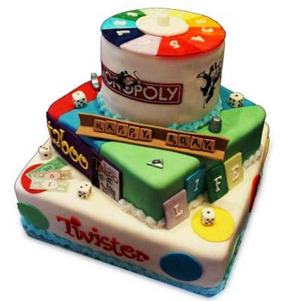 Colorful Multiple Games Cake 5kg