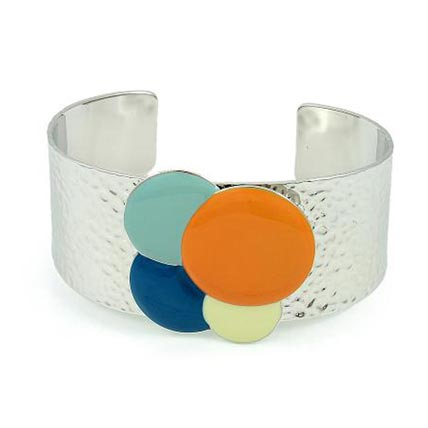 Colourful Silver Plated Exaggerate Chunky Bracelet