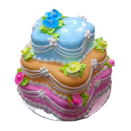 Colourful Wedding Cake 5kg Eggless