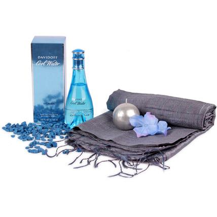 Cool Blue N Grey Hamper