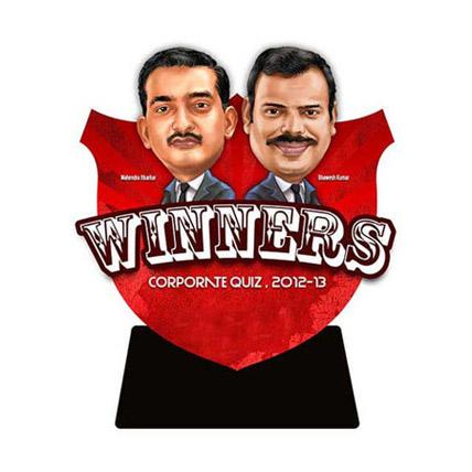 Couple Event Trophy 3D Caricature