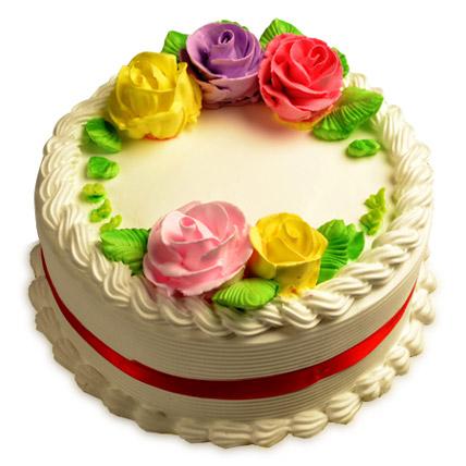 Creamy French Vanilla Cake 2kg Eggless