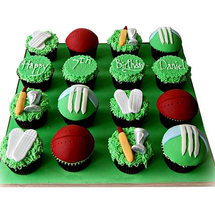 Cricket Mania Cupcake 12