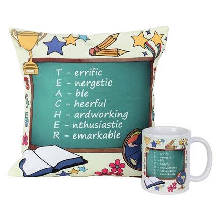 Cushion and Mug For Teacher